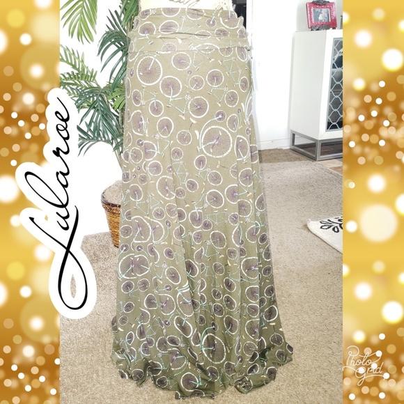 LuLaRoe Dresses & Skirts - Xs bicycle Lularoe maxi skirt
